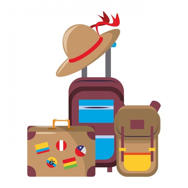 世界一周旅行のシンボル Premiumベクター
