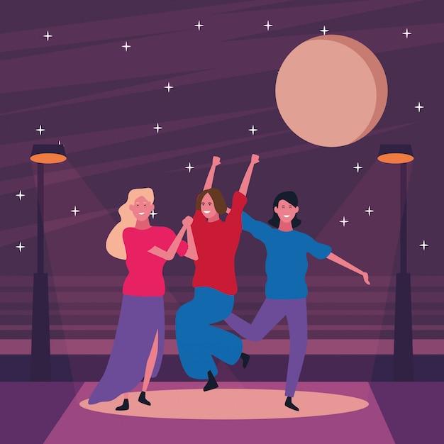踊って楽しんでいる人 Premiumベクター