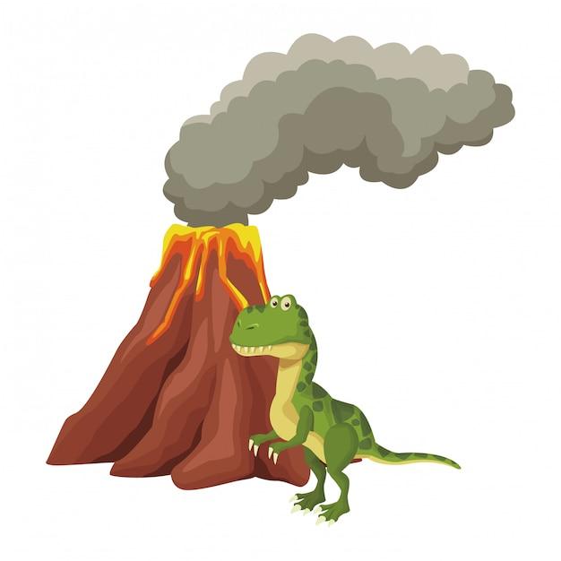 ティラノサウルス恐竜漫画 Premiumベクター
