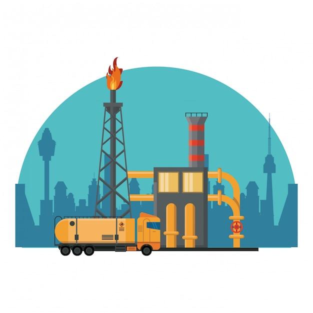 石油精製機械 Premiumベクター