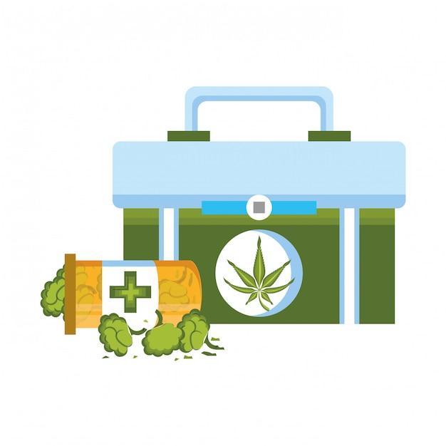 Марихуана конопля марихуана Premium векторы