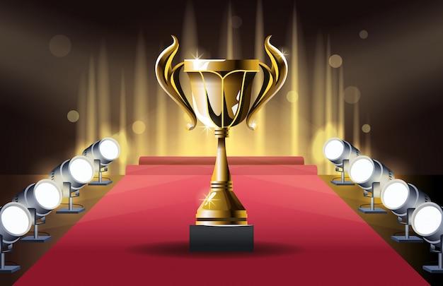 Награды кубка фильмов Premium векторы