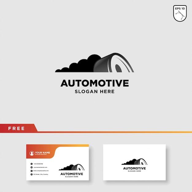 タイヤのロゴ Premiumベクター