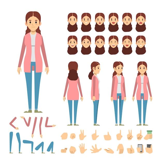 カジュアルな女の子のファッションベクターのイラスト ベクター画像