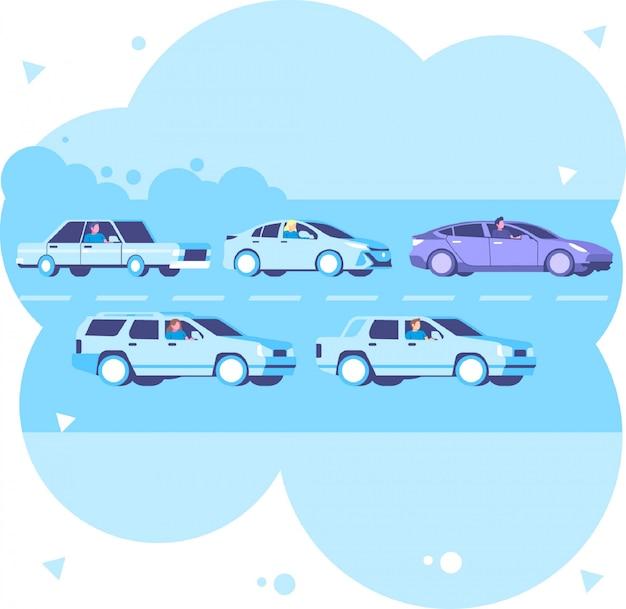 Автомобильная пробка Premium векторы
