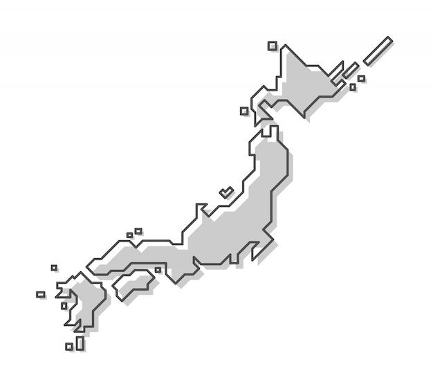 Карта японии Premium векторы