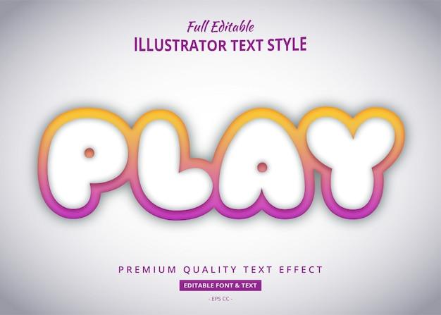 Эффект стиля текста названия игры градиента Premium векторы