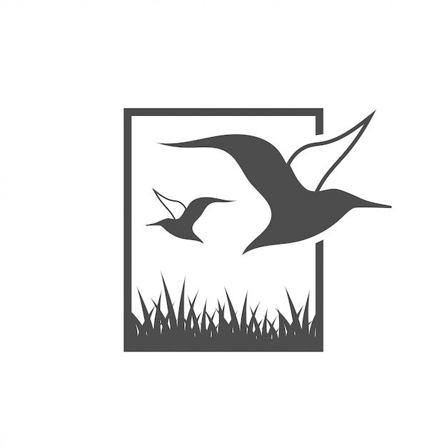 アルバトロス鳥グラフィックデザインテンプレートのベクトル図 Premiumベクター