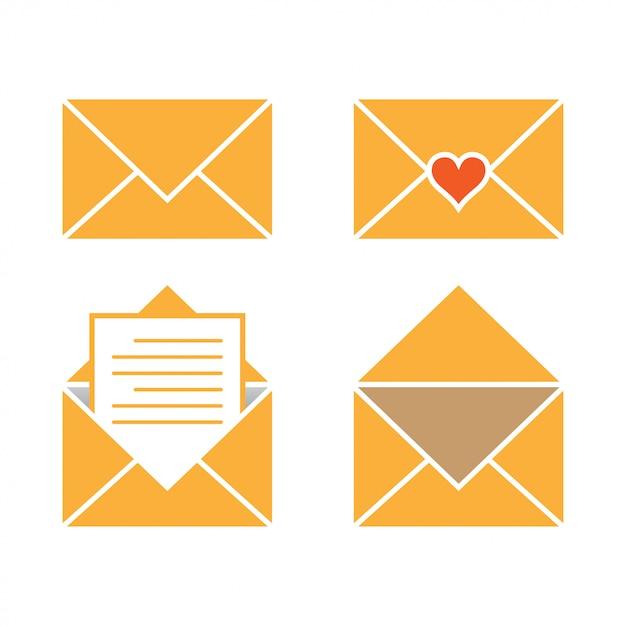 メールグラフィックデザインテンプレートのベクトル図 Premiumベクター