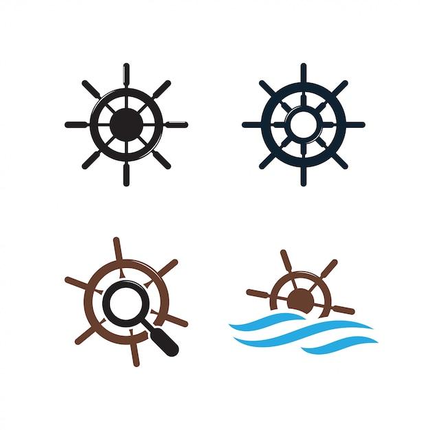 Шаблон логотипа логотипа корабля Premium векторы