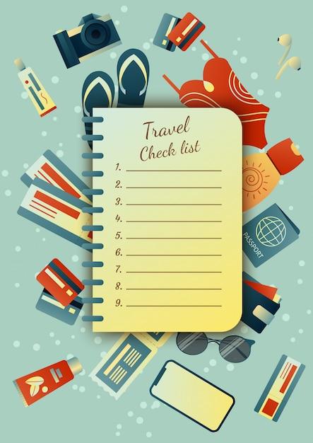 Сбор чемодана в поездку: одежда, документы, экипировка. дорожные вещи. планирование летнего отдыха, туризм. красочные модные иллюстрации. плоский дизайн. иллюстрация Premium векторы