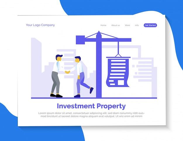 Целевая страница инвестиционной недвижимости Premium векторы