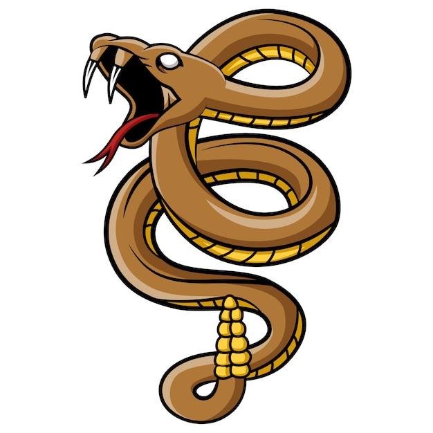 Мультфильм талисман змея Premium векторы