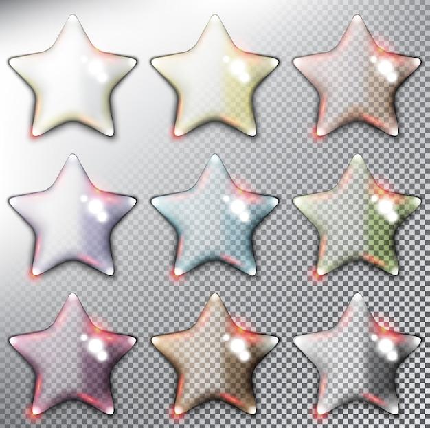 Глянцевая звезда иллюстрации Premium векторы