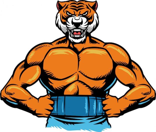 Тигровая мышца Premium векторы