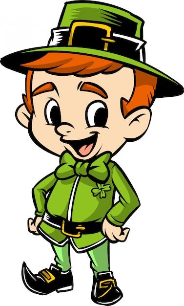 アイルランドの少年 Premiumベクター