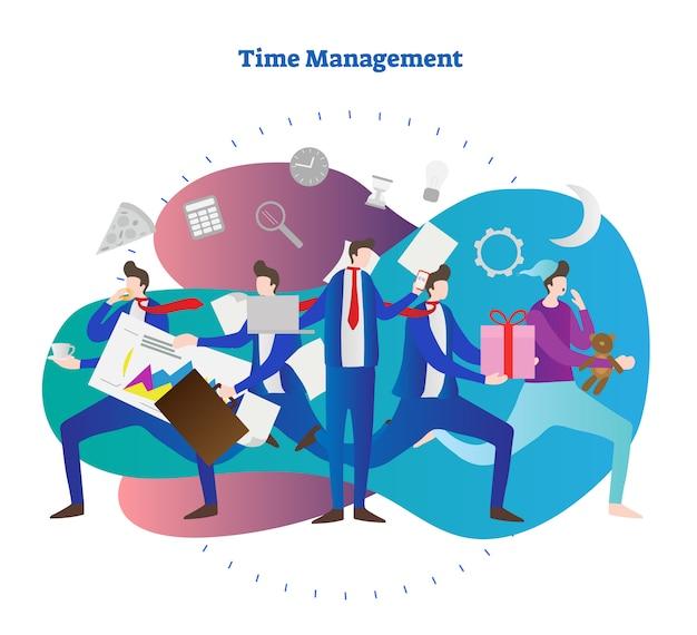 パーソナル時間管理の概念のベクトル図 Premiumベクター