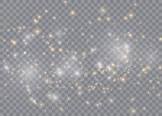 光の輝き効果の星。透明にベクトルの輝き Premiumベクター