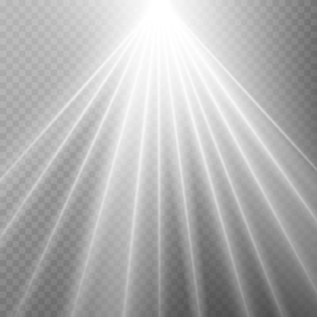 グローライト効果、爆発、輝き、火花、太陽のフラッシュ。 Premiumベクター