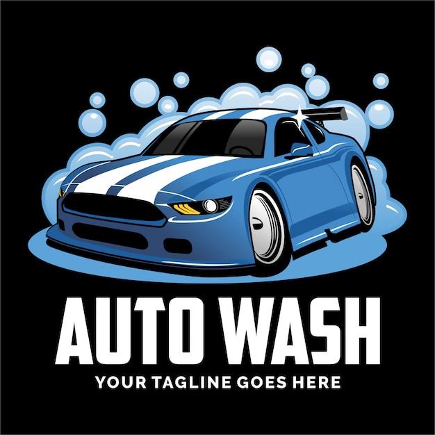 洗車ロゴデザインのインスピレーション Premiumベクター