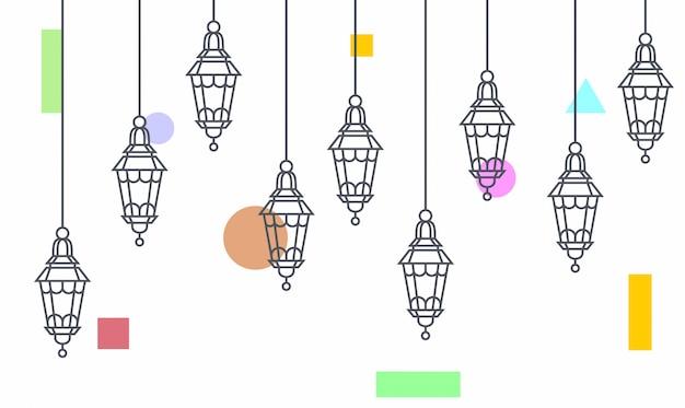 Подвесной светильник освещения Premium векторы