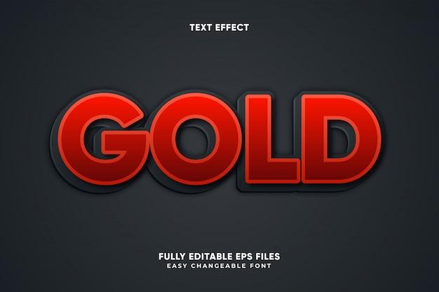 Золотой текстовый эффект Premium векторы