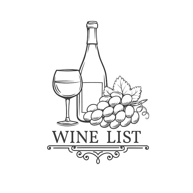 Старинные рисованной иллюстрации вина. Premium векторы