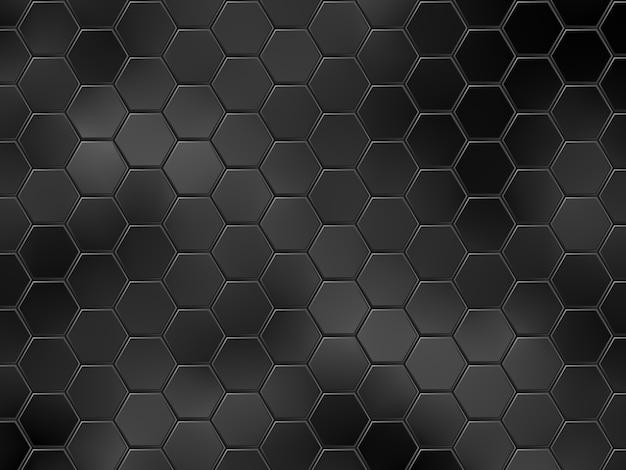 Абстрактный черный геометрический фон с шестиугольниками. иллюстрация Premium векторы