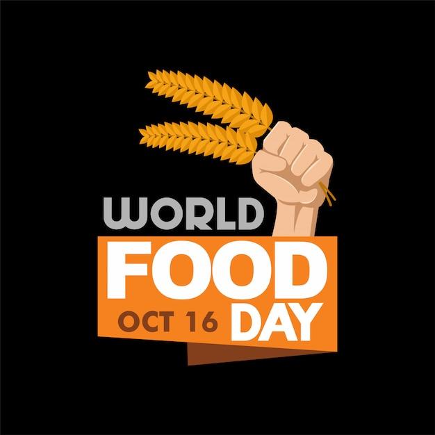 Всемирный день продовольствия логотип иллюстрация Premium векторы