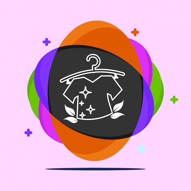 ランドリーのロゴのベクトル Premiumベクター