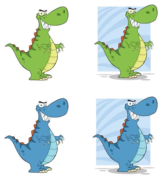 恐竜漫画キャラクター Premiumベクター