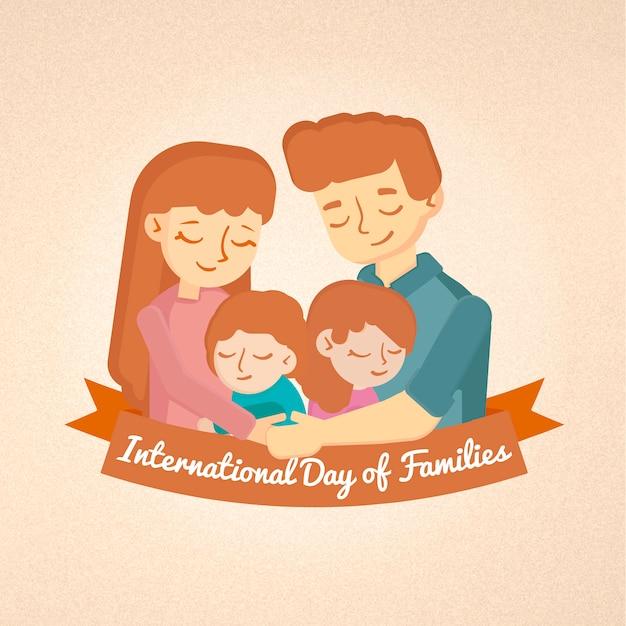 家族の国際デーカード Premiumベクター