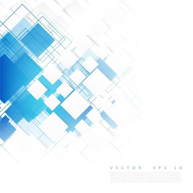 ベクトルの青い四角。抽象的な背景。 無料ベクター
