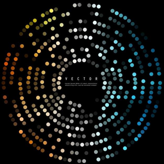 Векторные цветные точки. абстрактные фоновые круги Бесплатные векторы