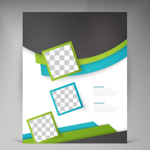 抽象的なベクトルモダンチラシのパンフレット。 無料ベクター