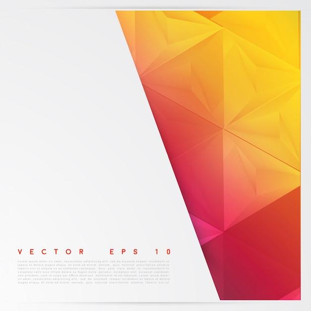 ベクトル背景抽象的なポリゴン三角形。 無料ベクター
