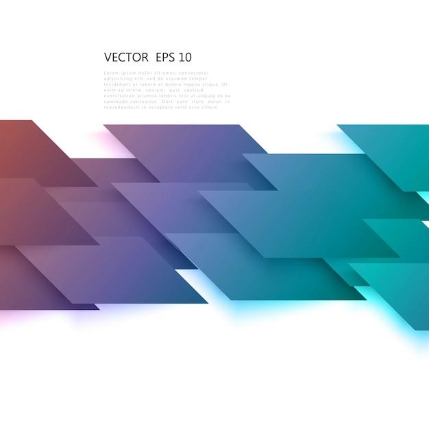 ベクトル灰色の斜めのロムからの抽象的な形状。 無料ベクター