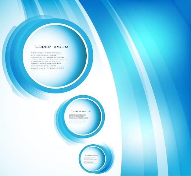 ベクトル抽象的な円青。曲線 無料ベクター