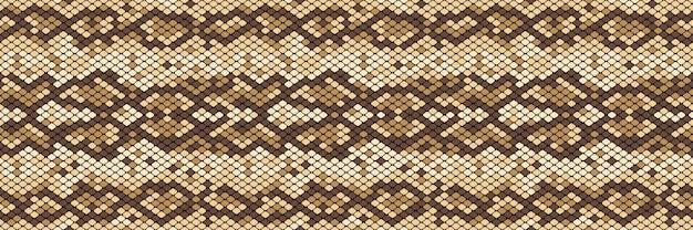 蛇のシームレスパターン Premiumベクター