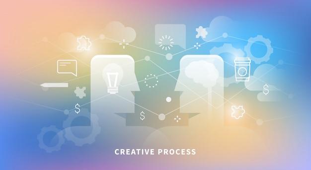 Иллюстрация творческого процесса Premium векторы