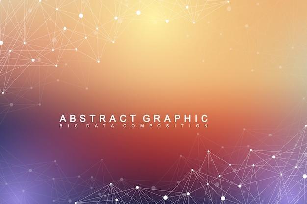 Абстрактный фон цифровых данных Premium векторы