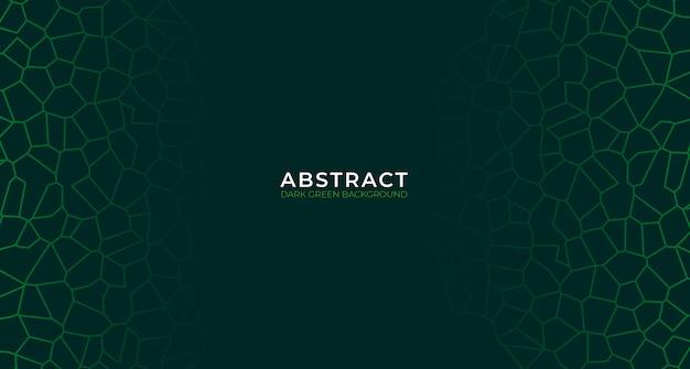 モダンな抽象的な濃い緑色の背景 Premiumベクター