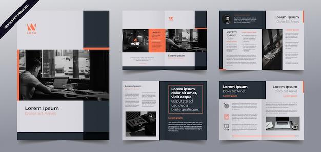 Шаблон страницы бизнес брошюры Premium векторы