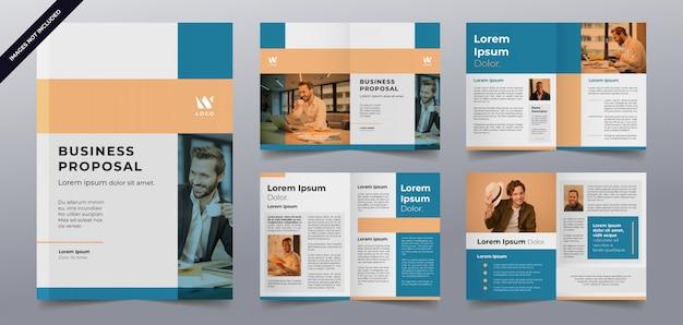 ビジネスパンフレットページテンプレート Premiumベクター