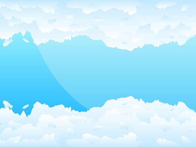 空に雲がフワフワとリアルなイラスト ベクター画像 無料ダウンロード