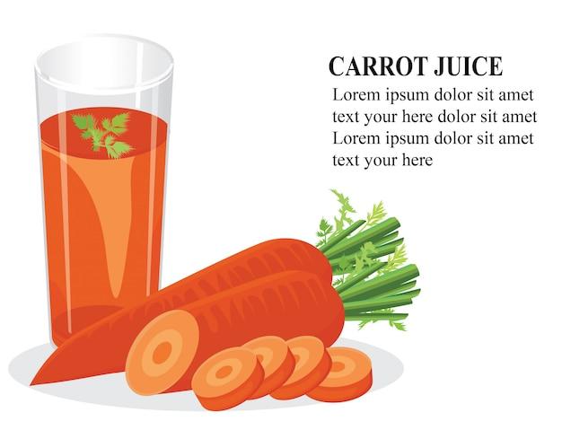 にんじんジュース健康上の利点 Premiumベクター