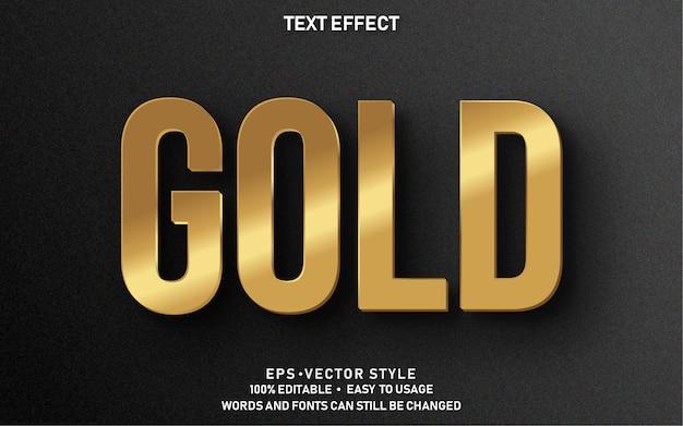 編集可能なテキスト効果ゴールド Premiumベクター