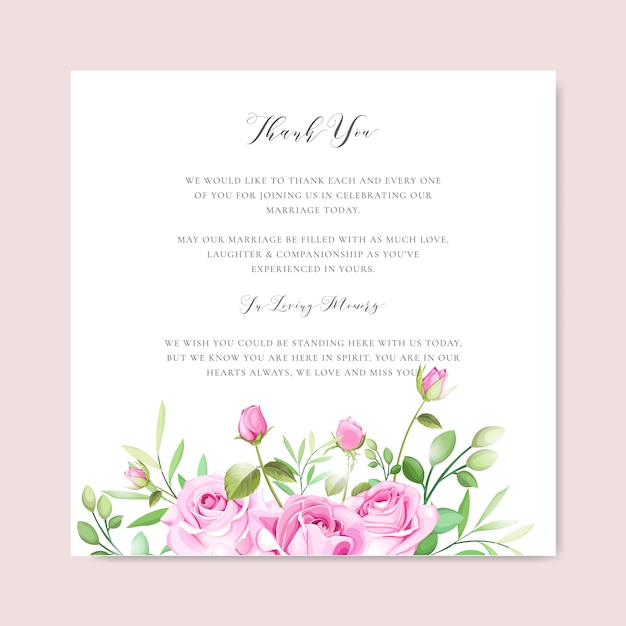 花と葉のフレームテンプレートとエレガントなウェディングカード Premiumベクター