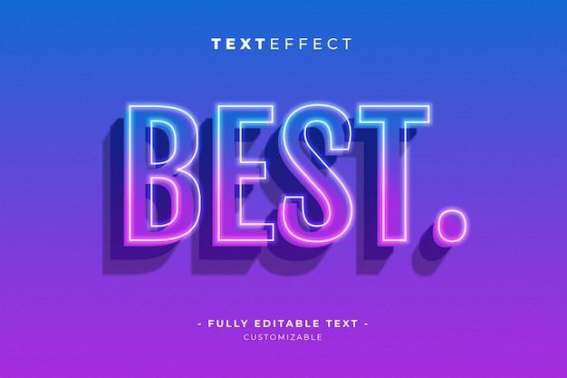 Редактируемый текст и шрифт эффект стиля премиум шаблон вектор Premium векторы