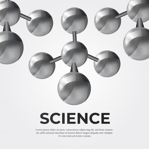 科学のための金属分子構造 Premiumベクター
